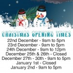 Christmas 2014 opening times at Electroville